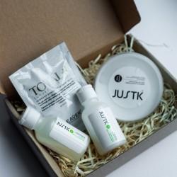 Набір для нанопластики волосся - JustK Maximum Smoothing Keratin Treatment